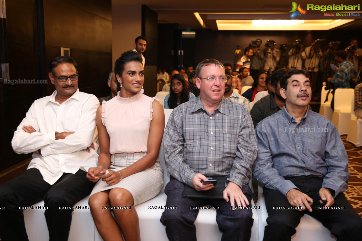 PV Sindhu Launches UBC Life Size Augmented Reality Breast Cancer Awareness